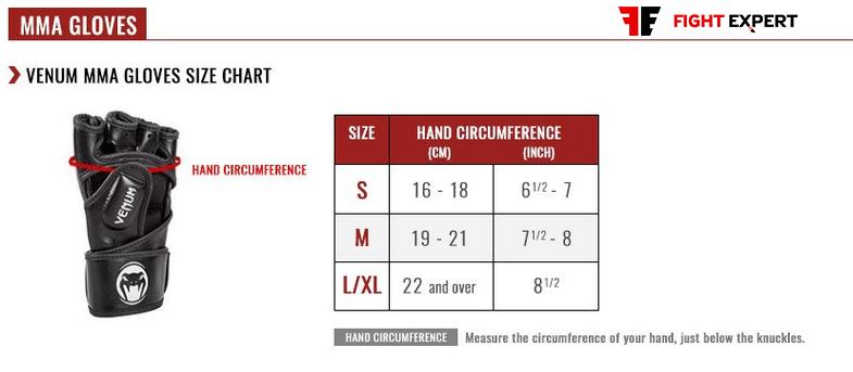 size_table_venum_mma_gloves